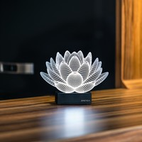 Lotus 3D Illusion LED Lamp