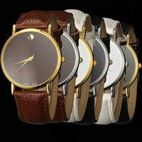 Hot Sale Couple Simple Design Hollow Out Stylish Casual Fashion Men Watch = 5861538497