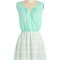 ModCloth Short Sleeveless A-line Mo-mint of Truth Dress