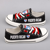 Puerto Rican Flag Pride  Shoes Low Top Canvas Custom Printed Sneakers