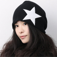 Star Pattern Knitted Hat