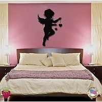Wall Stickers Vinyl Decal Angel Baby Kids Romantic Decor For Bedroom Unique Gift (z1752)