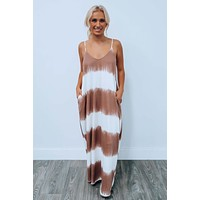 Figure It Out Maxi: Brown/White