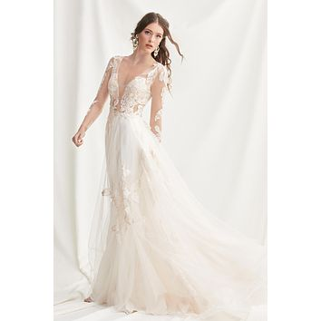 Willowby by Watters Sample Sale 52700 Rhapsody Long Sleeve Illusion A-Line Wedding Dress