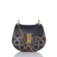 Chloe Drew Small Studded Saddle Bag - Shop Luxury Handbags | Editorialist