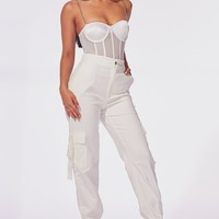 En Vogue High Waisted Buckle Cargo Pants
