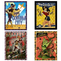 Bombshells Framed 3D Art Set of 4 |