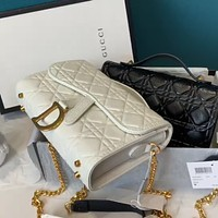 Dior new women's embossed chain bag shoulder messenger bag