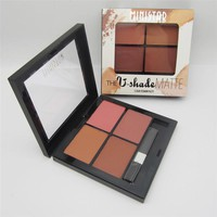 4 Colors Bronzer Cosmetic Waterproof Contouring Makeup Blusher Blush Palette Lasting Face Sculptor Cheek Color