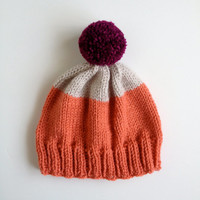 Weekender Hat in Coral, Platinum, Berry - READY TO SHIP