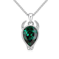 Swarovski Elements Crystal Jewelry Green Love Taurus Pendant Necklace