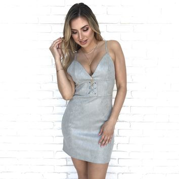 Silver Moon Bodycon Dress