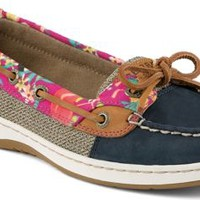 Sperry Top-Sider Angelfish Flamingo Floral Slip-On Boat Shoe Navy, Size 9W  Women's Shoes