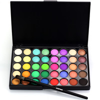 Professional Makeup Set Soft Eye Shadow Brush With Professional Minerals Powder 40 Color Eyeshadow Glitter Nude Makeup Palette