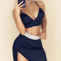 Trinity Satin Two Piece Outfit