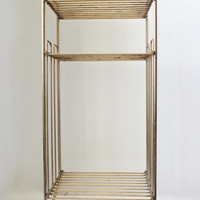 Mid Century Gold Wire Metal Plant Stand by VintMod on Etsy