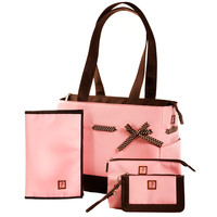 JP Lizzy Classic Tote Diaper Bag Set - Strawberry Truffle