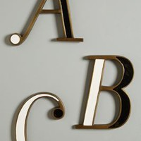 Hanging Monogram Letter by Anthropologie in Assorted Size: