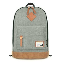 [Original] HotStyle 936s Classical Vintage College School Laptop Backpack Bag Pack Super Cute for School, light grey