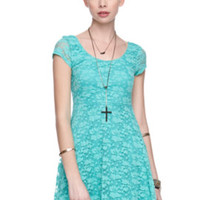 LA Hearts Cap Sleeve Lace Dress at PacSun.com
