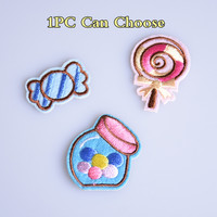 Lollipop Candy Embroidery Sew Iron On Patches Motif Applique Badges DIY Clothes Jeans Hats Patch Stickers Christmas Gift