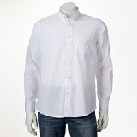 Dockers Solid No-Wrinkle Casual Button-Down Shirt