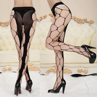 women sexy fishnet black red white pantyhose fishnet stockings hosiery lingerie tights TIML66