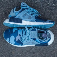 Adidas NMD XR1 Duck Camo Women Men Running Sport Casual Shoes Sneakers Camouflage blue