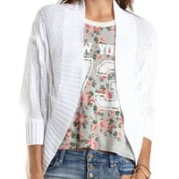 Cable Knit Cocoon Cardigan by Charlotte Russe