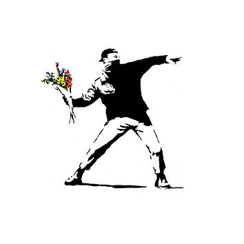 Banksy Flower Thrower Graffiti Poster 11x17