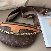 LV 2020 new wild classic old flower chain chest bag shoulder bag messenger bag