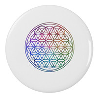 """Flower of Life Circle 2.25"""" Round Pin Button"""
