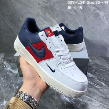 hcxx N1245 Nike Air Force 1 AF1 Just Do It Low Casual Skate shoes blue red white
