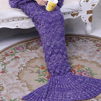 2017 new mermaid tail  Crochet blanket of winter quilt pattern