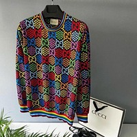 GUCCI GG Multicolor Knitted Double Sweater