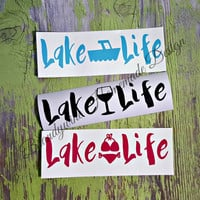 Lake Life Decals, DIY Decals, Lake Decals, Boating Decals, Car Decal, Truck Decal, Nautical Decal, Dock Box Decal, Lake Rat, Lake Summer
