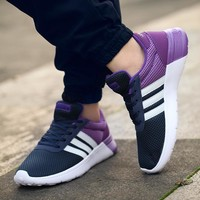 Adidas nmd sports shoes navy blue-purple-white line H-MDTY-SHINING