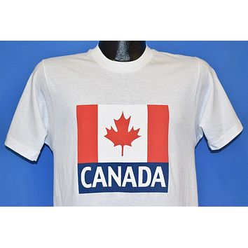 80s Canada National Flag Maple Leaf White t-shirt Small