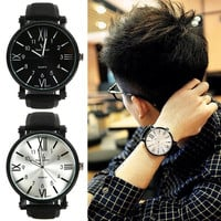 New Fashion Vintage Men Women Quartz Watch Casual sport Students Unisex large dial Wristwatch (With Thanksgiving&Christmas Gift Box)= 1956398532