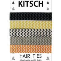 Kitsch Metallic Chevron Hair Ties