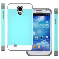 Galaxy S4 Case, (Turquoise Teal / Gray), CellJoy® [Vivid Hybrid] **Dual Layer** TPU Case Phone Cover Skin **Card Storage** For Samsung Galaxy S4 SIV i9500