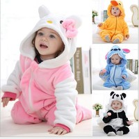 Spring Autumn Baby Clothes Flannel Baby Boy And Girl Clothes Cartoon Animal Jumpsuit Baby Girl Rompers Baby Clothing 8 Style Select