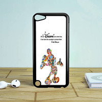 Walt Disney Quote Mickey Mouse Character iPod Touch 5 Case  Sintawaty.com