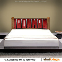 Removable and Reusable Vinyl Wall Decal Ironman Full Color Printed Wall Sticker Stark Avengers