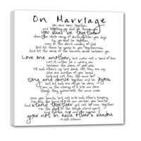 Personalized Marriage Quote Custom art lyrics vows favorite song Personalized Artwork 20X20
