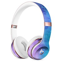 Mixed Pink Blue 3 Absorbed Watercolor Texture Full-Body Skin Kit for the Beats by Dre Solo 3 Wireless Headphones