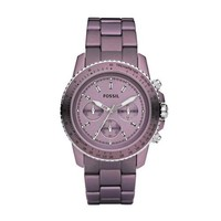 Fossil Women's CH2747 Stainless Steel Analog Purple Dial Watch