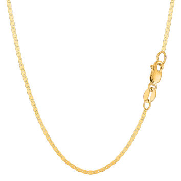 10K Yellow Gold Mariner Link Chain - Width 1.7mm