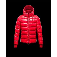 Moncler Aubert Hooded Neckline Coral Jackets Nylon/Polyamid Mens 41224644MN