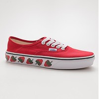 VANS Authentic SF Red strawberry canvas shoes for women